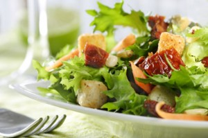 Fresh chefs table catering salads